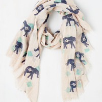 Safari Got the Whole Pachyderm Scarf by ModCloth
