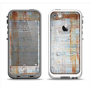 The Painted Grunge Rusted Panel Apple iPhone 5-5s LifeProof Fre Case Skin Set