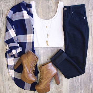 Lawless Plaid Top