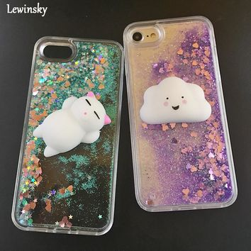 Squishy Cloud and Kitten w/ Stars Cases for iPhone