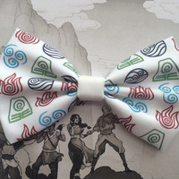 Avatar The Last Airbender Elements Inspired Hair Bow or Bow Tie