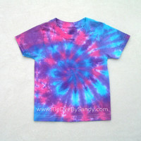 SALE! Toddler 2T Tie Dye Shirt Pink Blue Purple Spiral