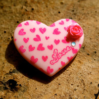 Large Oversize Heart Magnet By MillyPops - Baby Pink, Fridge Magnet Kitsch, Fairy Kei, Lolita