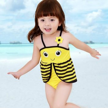 Baby Girls Smiley Face Bathing Suit