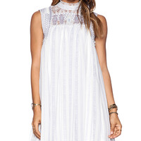 Free People Penny Georgette Babylon Dress in Ivory
