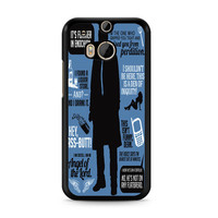 Supernatural Quote Wording Art 2 HTC One | M8 case