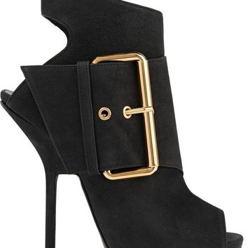 Buckled nubuck ankle boots | GIUSEPPE ZANOTTI | Sale up to 70% off | THE OUTNET