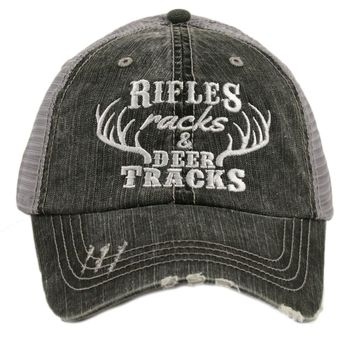 Katydid Rifles, Racks & Deer Tracks Trucker Hat