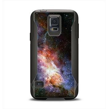 The Mulitcolored Space Explosion Samsung Galaxy S5 Otterbox Commuter Case Skin Set
