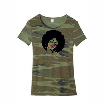 Wife Collection - Camo Afro Passion - Alternative Eco-Jersey - Dawson Urban Design Apparel