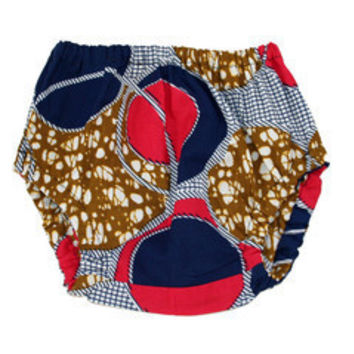 Pink & Blue Circles African Wax print Baby Bloomers