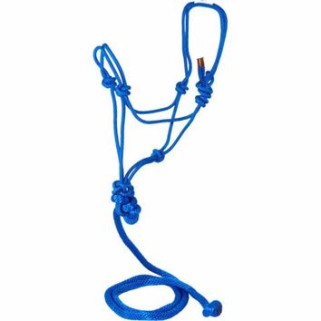 DuMOR® Royal Blue Braided Rope Halter and Poly Lead
