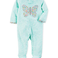 Carter's 1-Pc. Floral-Print Butterfly Footed Coverall, Baby Girls (0-24 months) | macys.com