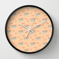 Fiesta!! Mariachi Cactus Band in Peach Wall Clock by CandyBoxDigital