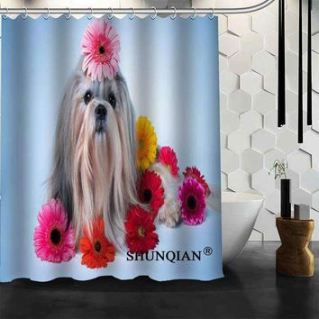 dog Shower Curtain High Quality Bathroom product Personalized Custom Fabric Bath Curtain