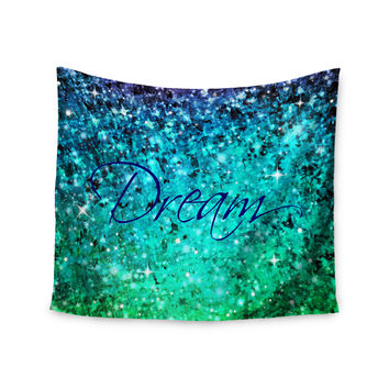 "Ebi Emporium ""Dream"" Blue Teal Wall Tapestry"