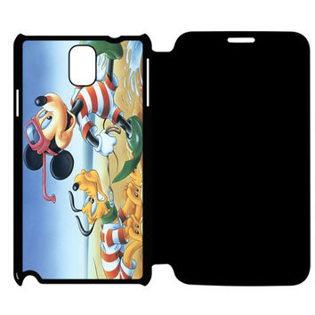 Vintage Mickey Mouse and Pluto Samsung Galaxy Note 4 Flip Case Cover
