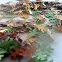 Fall Oak Leaf Confetti Green Gold Orange Brown Autumn Wedding Reception Bridal Baby Shower Scrapbook  Party Table Decoration 500 pcs