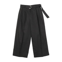 Wide Legged High-Waist Linen Slacks