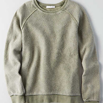 Don't Ask Why Reverse Boyfriend Sweatshirt, Olive