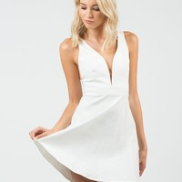 Little White Flared Dress