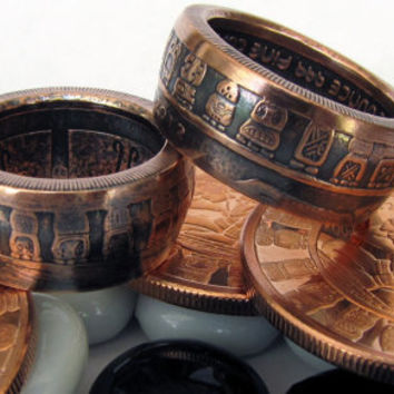 Mayan Calendar Handcrafted 1oz .999 Pure Copper Coin Ring