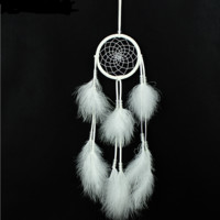 Creative White Dream Catcher Pendant Handmade Gift