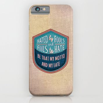 Hated by Fools  iPhone & iPod Case by Vanya