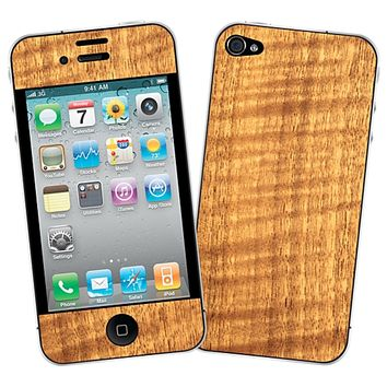 Figured Walnut Skin for the iPhone 4/4S by skinzy.com