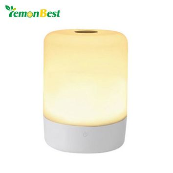 Smart Touch Sensor RGB LED Night Lamp Rechargeable Atmosphere Bedside Table Camp Light Brightness with with Power Bank Charging