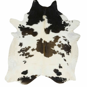 Black, Brown, and White Special Brazilian Cowhide Rug