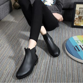 Fashion Women Boots 2016 Rain Shoes Low Heel Ankle Boots Aj Women Rainboots Botas De A