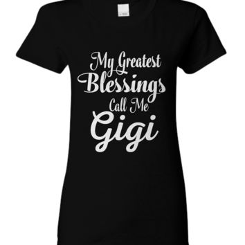 My Greatest Blessings Call Me Gigi - Women's T-shirt my-greatest-blessings-gigi-blt