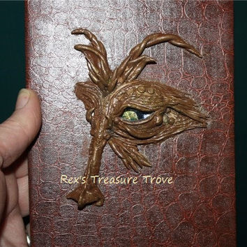 Dragon Writing Journal, Handmade Polymer Clay Sculpture on Lined Journal, Fantasy, Unisex, Birthday Gift, Mother's Day,