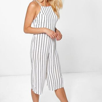 Emily High Neck Open Back Jumpsuit | Boohoo