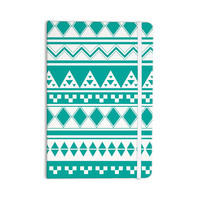 "Belinda Gilles ""Turquoise Aztec"" Teal Green Everything Notebook"