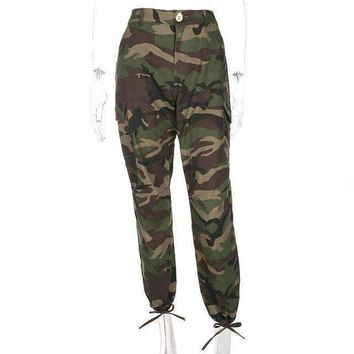 Women Army Green Loose Baggy Trousers camouflage Printed Sweatpants Pants Hip Hop Dance Pants Plus Size