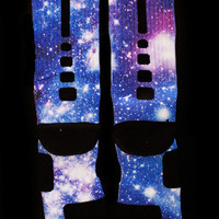 "Custom Nike Elite or Notion Socks ""Moon Man Galaxy"""