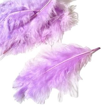 Lavender turkey marabou feathers - 5 pieces