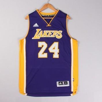 Kobe Bryant #24 Los Angeles Lakers Purple adidas Swingman Men's Home Jersey