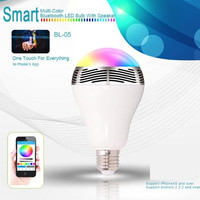 MIPOW PLAYBULB Smart LED Blub Light Wireless Bluetooth Speaker 110V - 240V E27 3W Lamp Audio for iPhone  6 /4S /5S/ 5C /5  /iPad air android 2.3.3 above (Color: White)