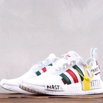 HCXX A247 Adidas NMD Nast X Off White Boost Primeknit Running Shoes White