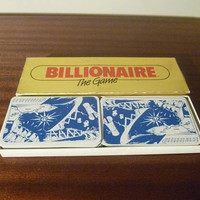 """Vintage 1984 Card Game """"Billionaire The Game"""" by Crown & Andrews / Retro Taxman Card Trading Game / Commodity / 3 to 8 Players"""