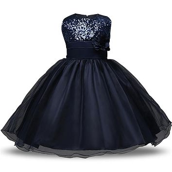 Princess Flower Girl Dress Summer 2017 Tutu Wedding Birthday Party Dresses For Girls Children's Costume Teenager Prom Gowns