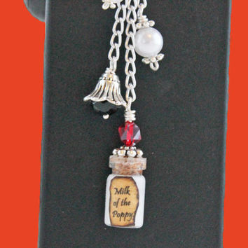 Inspired by GoT - Vape Charm -  Milk of the Poppy Potion Mod charm - Ecig charm  -or - Vapor charm - Electronic CigaretteVape Bling