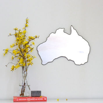 Australia Mirror Wall Mirror Country Outline Silhouette