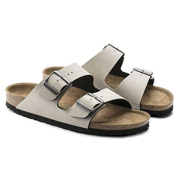 Birkenstock Arizona Birko-Flor Pull Up Stone Sandals