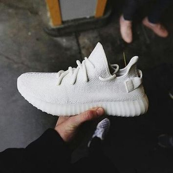 Adidas Yeezy 550 Boost 350 V2 Trending Women Men Casual Sport Running Shoe Sneakers Pure Whiet I