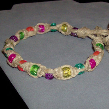 24% OFF Item of The Week - Custom Size & Style Kandi Bead Hemp Anklet