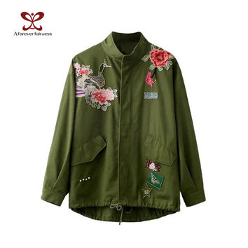 Shop Green Army Jacket Women On Wanelo
